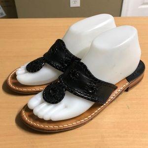 Jack Rogers Black Sandals Leather sz 8